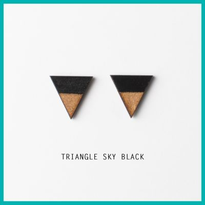 Earrings Triangle Sky | Belgunique