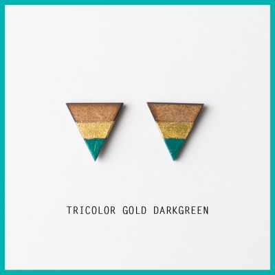 Earrings Tricolor  | Belgunique