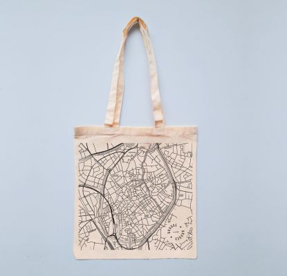 Tote: City Map Bruges | Belgunique