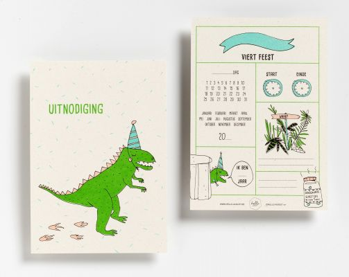 6 Party Invitations: Dino's | Belgunique