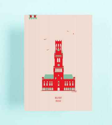 4 Postcards: Bruges | Belgunique