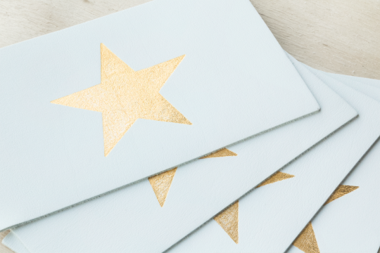 3 Lederen Postkaarten: The Golden Star | Belgunique