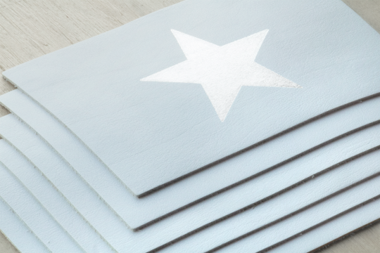 3 Lederen Postkaarten: The Silver Star | Belgunique