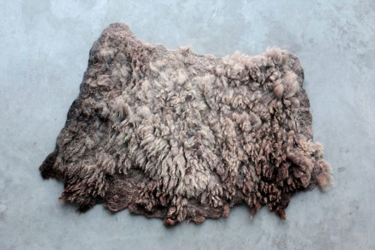 Fur Rug: Blue | Belgunique