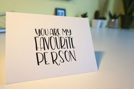 Cards: Favourite Person... EVER! | Belgunique