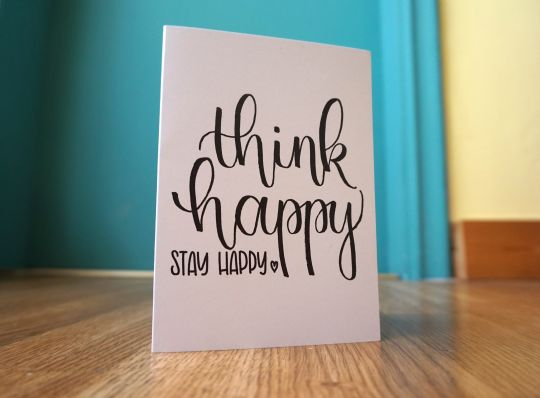 cards: Think happy, stay happy | Belgunique