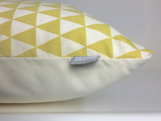 Ochreous Triangle Pillow | Belgunique