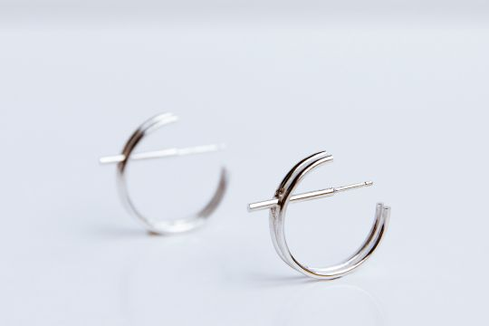 STRUCTURE Hoop Earrings | Belgunique