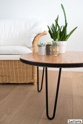 Cork & Steel Coffee Table | Belgunique