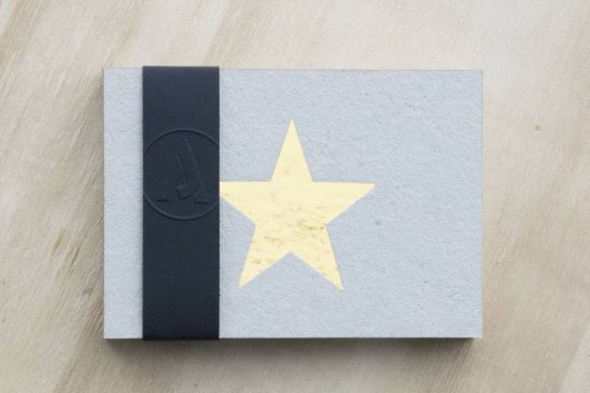 The Cardboard Star postkaart - Gold edition | Belgunique