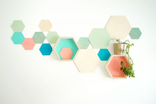 Wall Art: Hexagon Valparaiso  | Belgunique