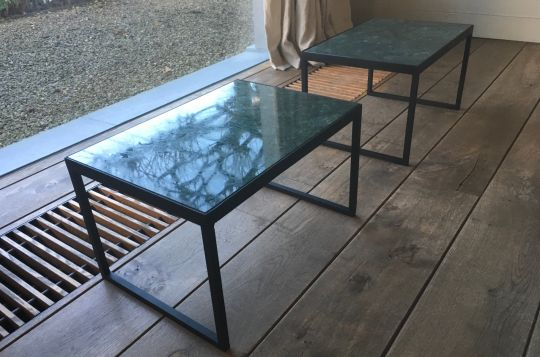 Side Table: Green Marble | Belgunique