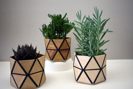 Wooden Flowerpots | Belgunique