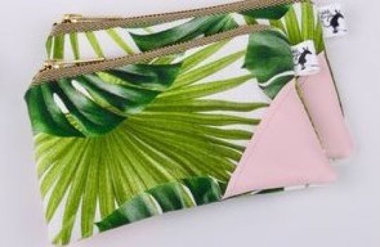 Clutch 'Palm Leaves' | Belgunique