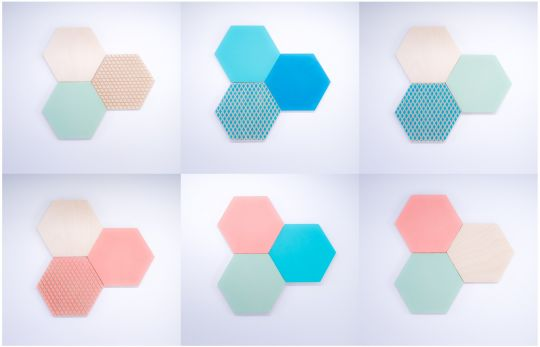 Wall Art: Hexagon Combo | Belgunique