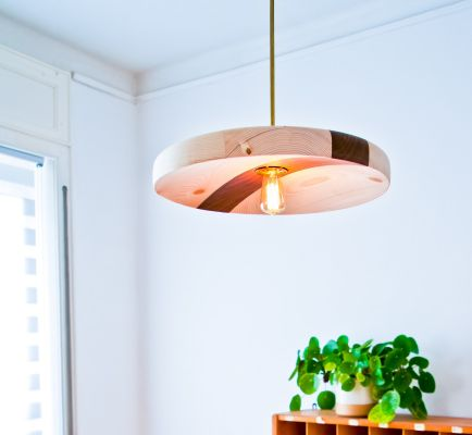 Wooden Ceiling Light | Belgunique