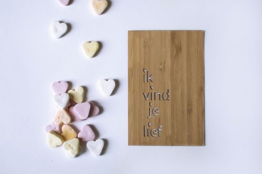 10 Wooden Cards | Belgunique