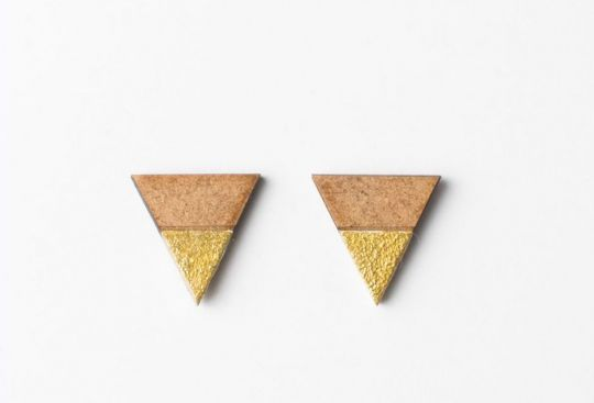 Earrings: Triangle Earth | Belgunique