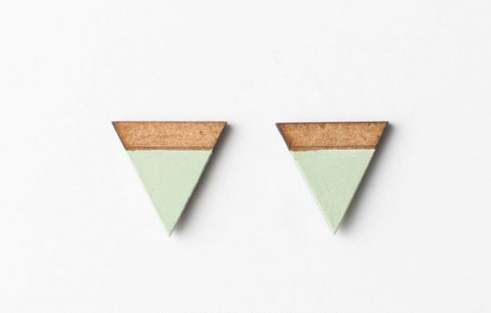 Earrings: Triangle | Belgunique