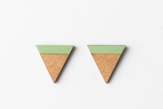Oorbel: Triangle Little | Belgunique