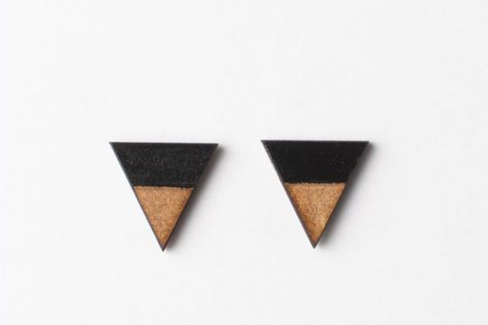 Earrings: Triangle Sky | Belgunique