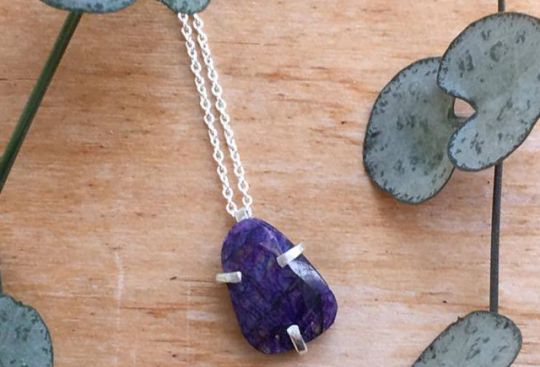Purple Moonstone Necklace | Belgunique