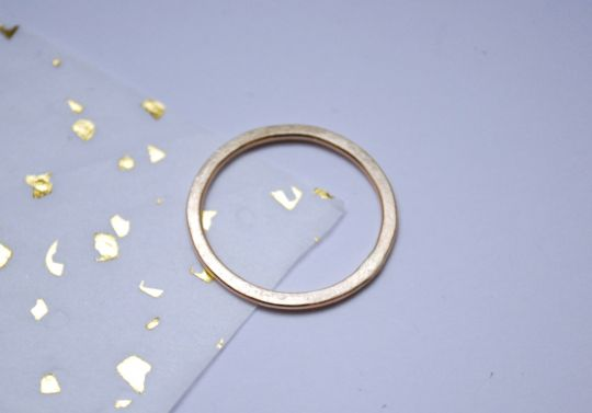 Hammered Gold Ring | Belgunique