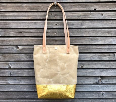 Tote Bag: Piñatex™ Gold | Belgunique