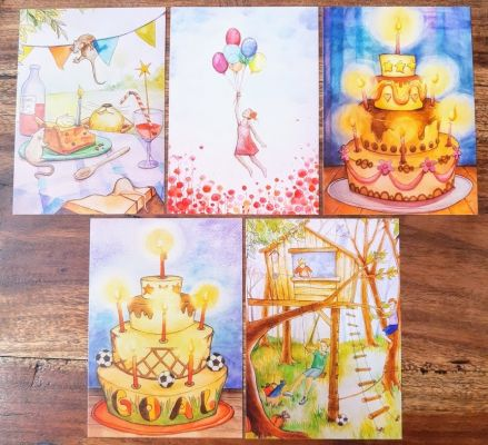 5 Cards: Birthday | Belgunique